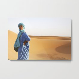 Blue Berber Morocco Metal Print