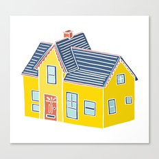 Little Yellow House with a Big Porch Canvas Print