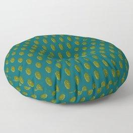 Hops Dark Cyan Pattern Floor Pillow