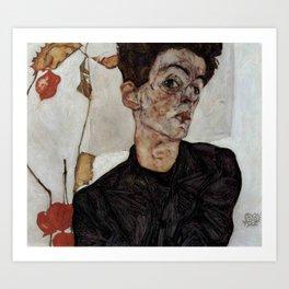 Egon Schiele , self-portrait Art Print