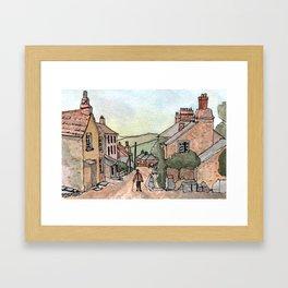 Boscastle Cornwall England Watercolour Print Framed Art Print