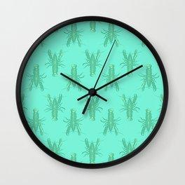 Green Lobster Wall Clock