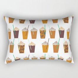 Pumpkin Spiced Latte fall autumn winter seasonal coffee drinks pattern Rectangular Pillow