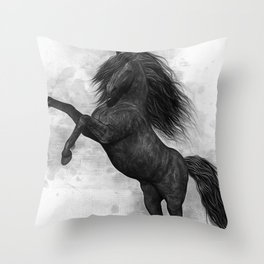 The Dark Horse Throw Pillow