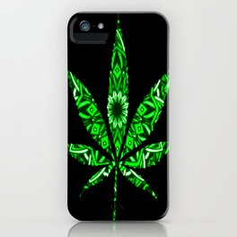 Weed : High Time Green Bandana iPhone Case
