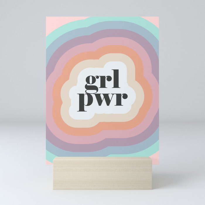 Grl Pwr Mini Art Print