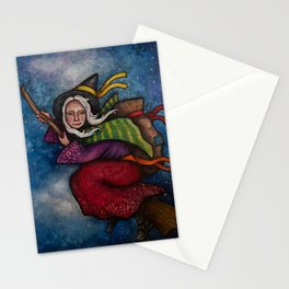 Holiday La Befana the Christmas Witch Stationery Cards