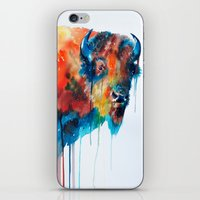 bison iPhone & iPod Skins featuring Bison by Slaveika Aladjova