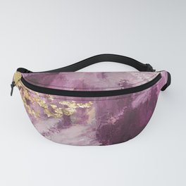 Purple and Gold Abstract Glam Fanny Pack