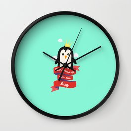 Dont mess up with a King T-Shirt Dzzci Wall Clock