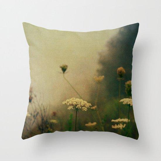Ethereal Fog Throw Pillow
