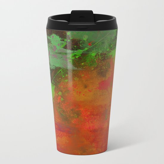 A Difference Of Opinion (Abstract painting) Metal Travel Mug