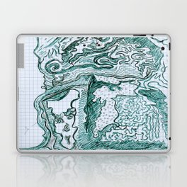 Encre vert Laptop & iPad Skin