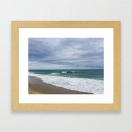 Cloudy Day at Nauset Beach Framed Art Print