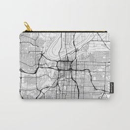 Kansas City Map White Carry-All Pouch