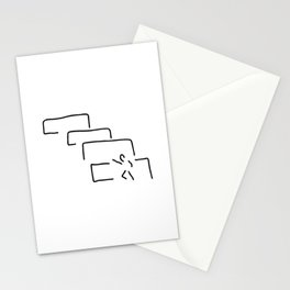 little man wants stair success challenge Stationery Cards
