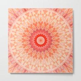 Mandala soft orange Metal Print