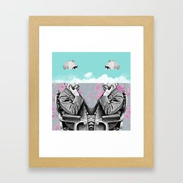 Vintage clouds in your head Framed Art Print