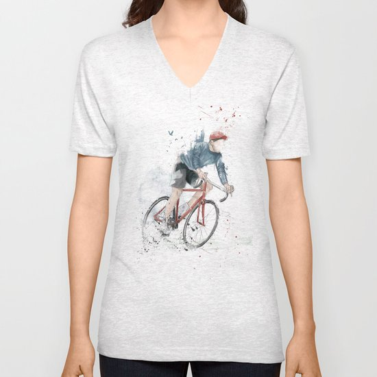 I want to ride my bicycle Unisex V-Neck