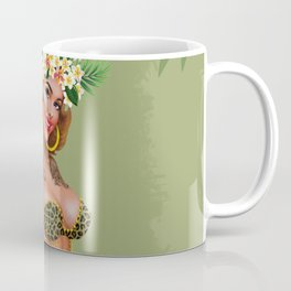 Metro&medio Designs - Animal print and flowers pin-up Coffee Mug