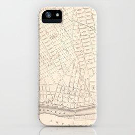 Vintage Map of New Brunswick NJ (1837) iPhone Case