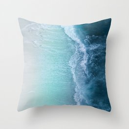 Turquoise Sea Throw Pillow