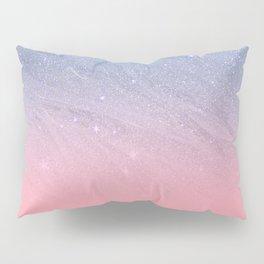Modern blush coral pink pastel blue elegant faux glitter Pillow Sham