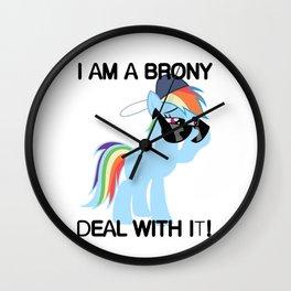 Rainbow Dash Brony Wall Clock