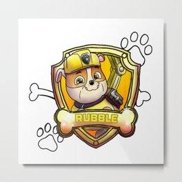 Rubble paw patrol Metal Print