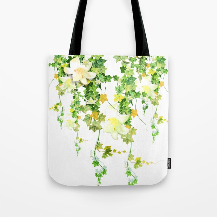 Watercolor Ivy Tote Bag