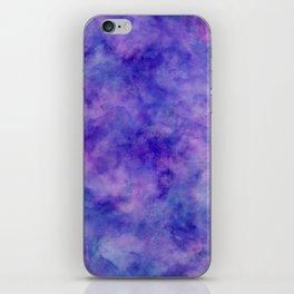 Purple Pink and Blue Bright Marble Watercolor Texture iPhone Skin