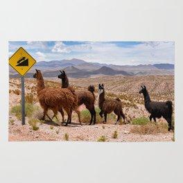 Downhill Llamas Rug