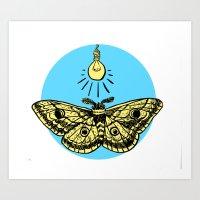 Like A Moth To A Art Print