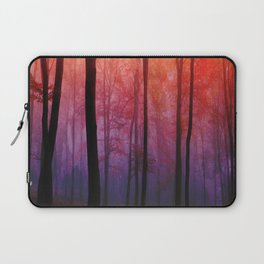 Whispering Woods, Colorful Landscape Art Laptop Sleeve