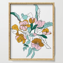 Floral Ink - Winter Roses Serving Tray