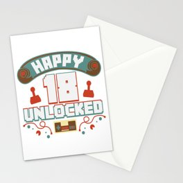 Level Up Typical Gamer Gaming Retro 18 Player Gift Stationery Cards