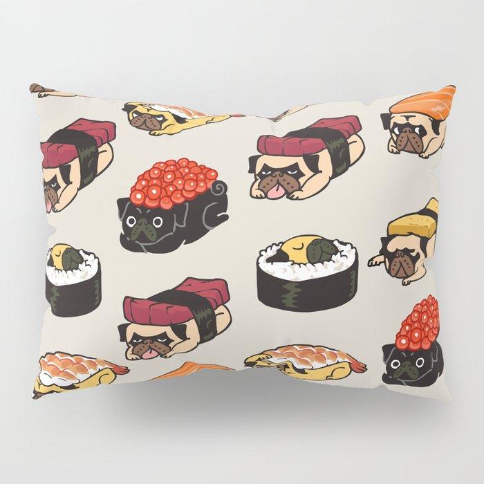 Sushi Pug Pillow Sham
