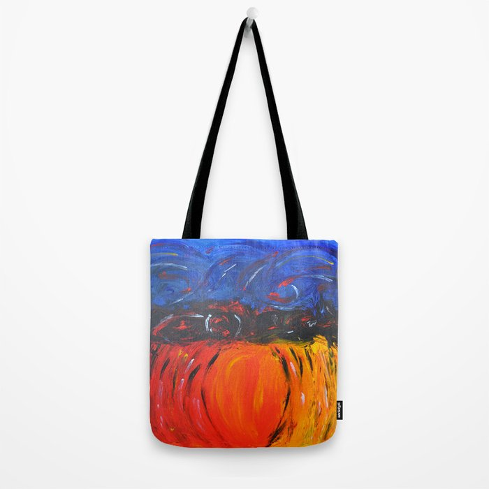 RED AND BLUE AND WARM AND COOL ABSTRACT Tote Bag