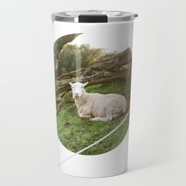 Lamb in the Grass  Travel Mug