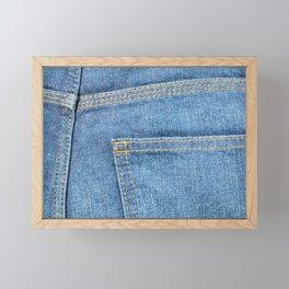 Blue Jeans Back Pocket Framed Mini Art Print