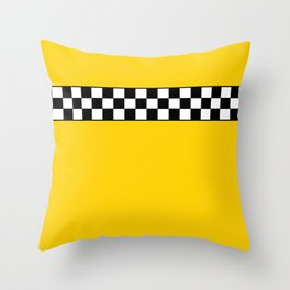 NY Taxi Cab Cosplay Throw Pillow