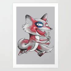 Hungry Fox Art Print