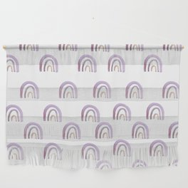 Lilac Lavender Rainbows Wall Hanging
