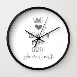 What I love most about my home Wall Clock