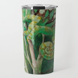 Chameleon in Watercolour Travel Mug