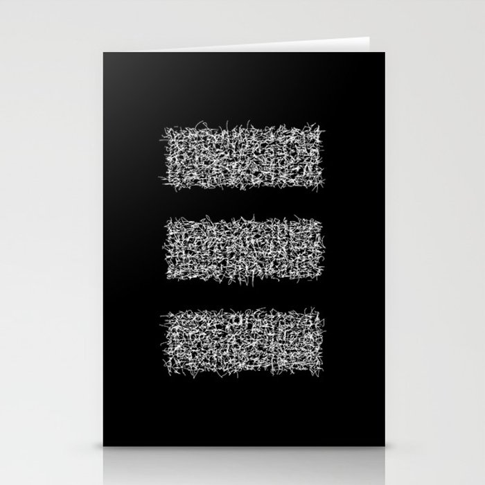 tri black Stationery Cards