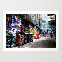 melbourne Art Prints featuring Melbourne by Taurin Eimermacher