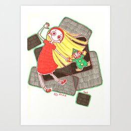 Me And My Clown Art Print