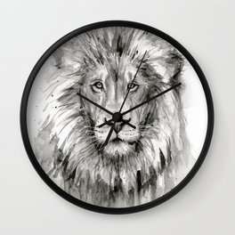 Lion Watercolor Animal Wall Clock