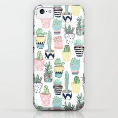 Cute Cacti in Pots Slim Case iPhone 5c